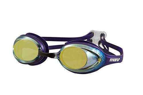 maru AG5705 Schwimmbrille, Violett/Blau/Gold, Für Erwachsene