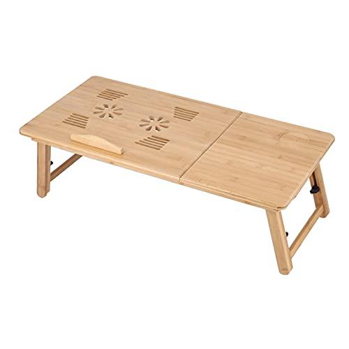 CUTULAMO Escritorio del Ordenador Portátil, Diseño Que Cae Anti De Bambú De La Tabla del Ordenador Portátil para El Sofá para Los Estudiantes