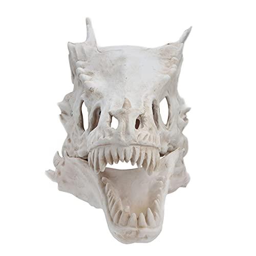 Máscara De Halloween, Calavera De Dinosaurio De Simulación Látex Impermeable Máscara De Terror De Halloween Mandíbula Extraíble Máscara De Dinosaurio para El Juego De Roles Fiestas De Halloween