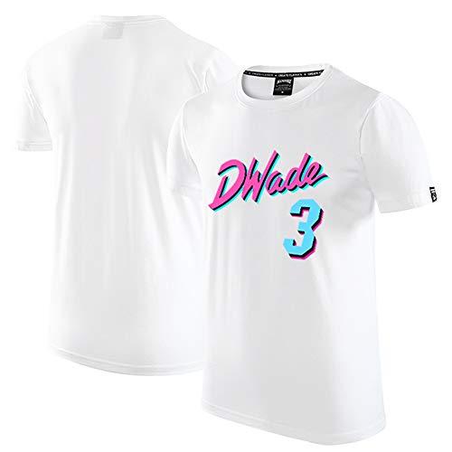 Camiseta de Manga Corta Conmemorativa de Baloncesto New Season City Edition No. 3 de Miami Heat Wade