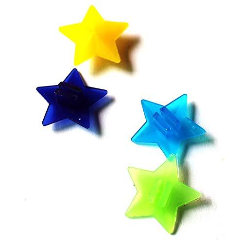 SparY Rueda Bici Radios, 36 Pzas/Bolso Colorido Reflectante Estrellas Decoración Bicicleta Habló Clips Cuentas para Niño Niña Bicicleta Decoraciones - 36pcs