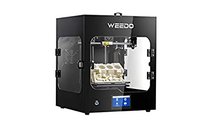 WEEDO Industrial-Grade Pro 3D Printer for Creator, Support Wiibuilder/Cura Software (PLA/ABS/PC/Nylon) Printing Materials, Fast Slicing, WiFi Operation or Touch Screen -WE20-Pro(F152S)