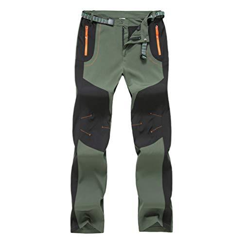 Haobing Unisexo Pantalones de Acampada y...
