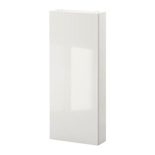 Ikea GODMORGON - Armario de pared 1 puerta, blanco brillante 40x14x96 cm