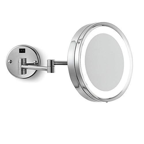 Electric Mirror Brushed Nickel Hardwired 5x Makeup Mirror (EMHL10-CC-BN-110V-5X)