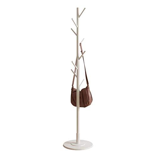 Perchero de piso, 8 ganchos Perchero de árbol de madera vintage Perchero de pie independiente Perchero Pasillo/Entrada Perchero Perchero para ropa, trajes(white)