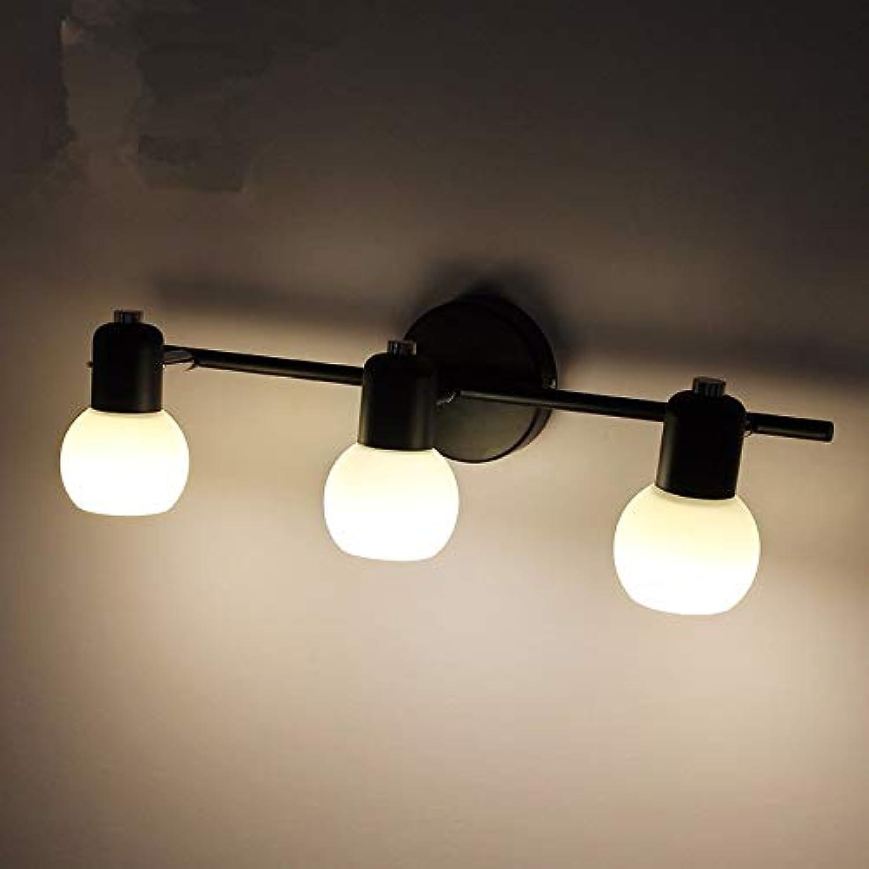 StiefelU LED Spiegel vorderen Leuchte Make-up-Spiegel-Leuchte Badezimmerschrnken retro Schlafzimmer Light Corridor Lights Off road Leuchten Wandleuchten, drei Kopf