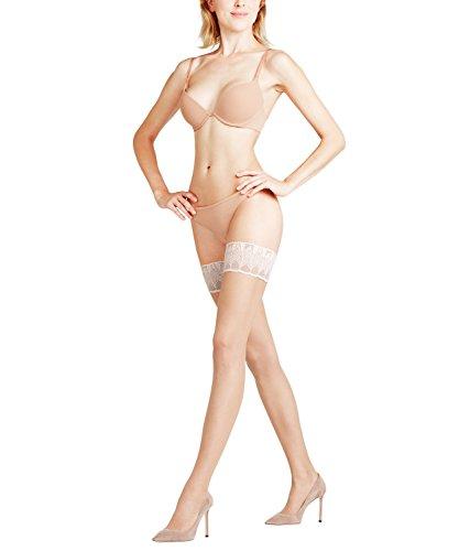FALKE Damen Stay Ups Lunelle 8 Denier - Ultra-Transparente, 1 Paar, Beige (Powder/Champagne 999), Größe: L