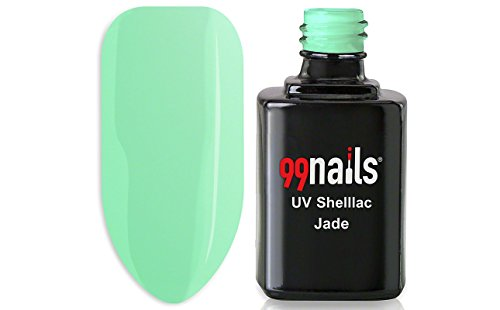 99nails Shellac Jade 1er Pack (1 x 12 ml) Made in Germany UV Shellac UV Nagellack Schellack Gellack Grün