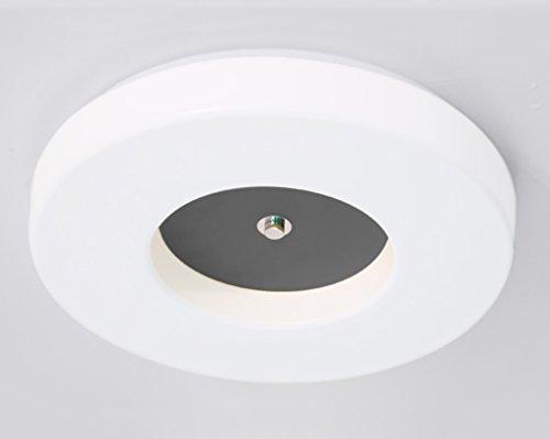Home mall- LED Plafonnier Mode Créative Style Européen Enfants Chambre Étude Chambre Blanc Lampe (Couleur : Gris-48 * 8cm)