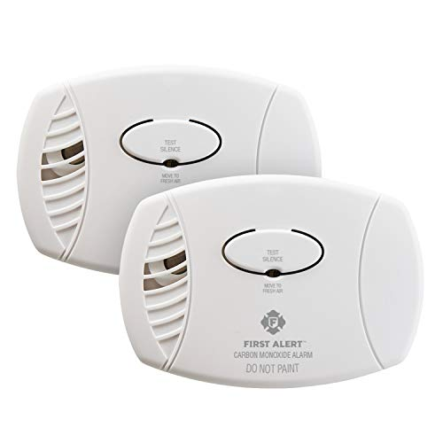 FIRST ALERT Carbon Monoxide Detector, No Outlet Required, Battery Operated, 2-Pack, CO400