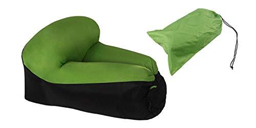 ZYFWBDZ Rápido de Aire Inflable Tumbona Sofá Cama de Camping Perezoso de los Muebles del Saco de Dormir y la Silla de Playa del Amortiguador de Aire del Asiento (Color : Green Chair)