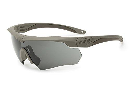 ESS Sunglasses Crossbow One Anti Fog Eyeshield Terrain Tan with Smoke Gray Lens