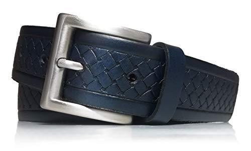 almela - Cinturón de Hombre - Piel legitima - 3,5 cm de...