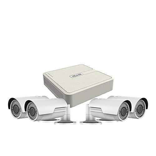 Hikvision Hilook - Kit de CCTV IP de 4 Ch de 2 MP / 1080P con 4 cámaras tipo bala motorizadas HiWatch PoE Vari-Focal (1000 Gb)