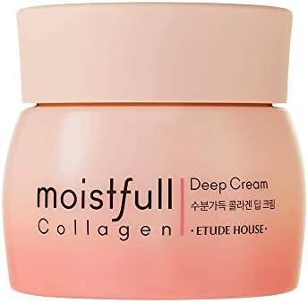 ETUDE HOUSE Moistfull Collagen Deep Cream 75ml Renewal Facial Moisturizing Skin Care Cream Super product image