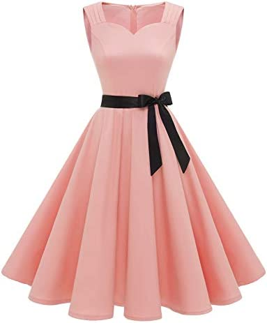 Vintage Pin up Dresses for Women 1950s Retro Audrey Hepburn Style Dress for Wedding Guest Women product image