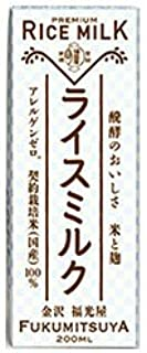 福光屋 プレミアム ライスミルク 200ml紙パック×24本入