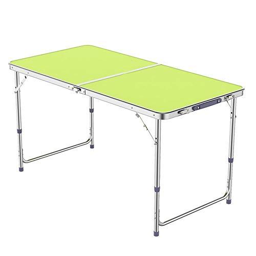 ZR Outdoor klappbarer Picknicktisch einstellbar, tragbarer klappbarer Campingtisch, Aluminium weiß, blau, gelb, 47.2inx24in (Farbe : Gelb)