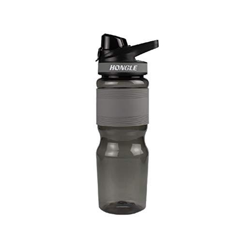 650 Ml Deportes Botella De Agua Reutilizable Botella Botella De Botella Botella De Agua Adecuada para Fitness Camping Yoga Corriendo Montando No Tóxico E Inofensivo(Color:Gris)