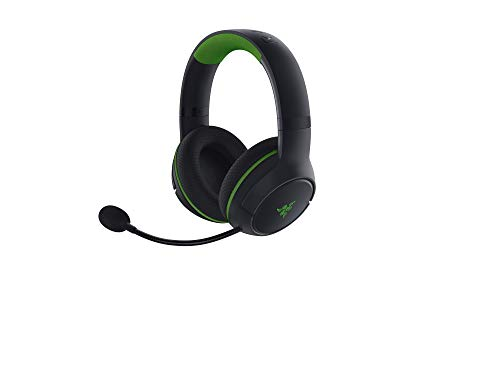 Razer Kaira - Kabelloses Headset für Xbox Series X (Wireless, Titanium 50-mm-Treiber, HyperClear Kardioid-Mikrofon, Ohrpolster, Windows Sonic, Xbox Wireless) Schwarz-Grün