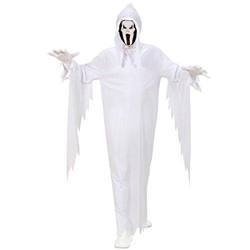 NET TOYS Costume Fantasma per Bambini Bianco Travestimento Scream - 6 - 8 Anni