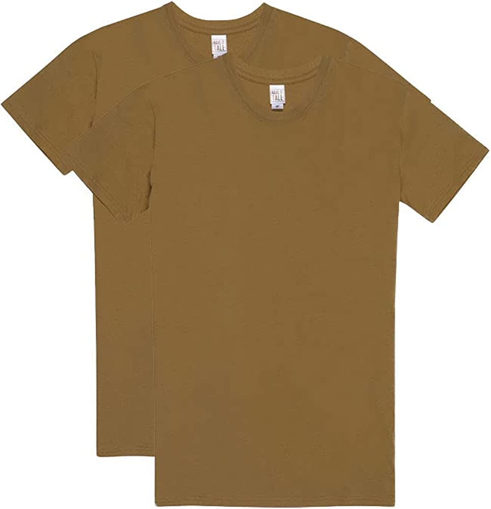 Have It Tall Men's Military T-Shirt 100% Ring Spun Cotton | 2 Pack