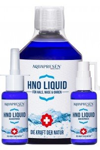 Aquapresén HNO Set: Hals- und Ohrensprüher je 50 ml PLUS Nachfüllflasche 500 ml