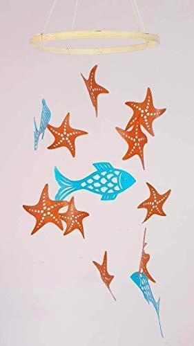 Móvil de bebé,Peces y estrellas de mar,Móviles de cuna de bebé,Regalos de nacimiento,de Estilo escandinavo,Decoración de la habitación infantil