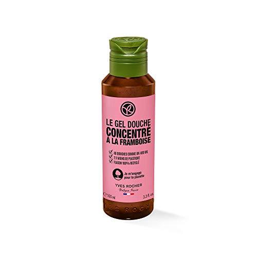 Yves Rocher I LOVE MY PLANET Duschgel-Konzentrat Himbeere, 100 ml = 40-mal Duschen! Ein umweltfreundliches Produkt mit einer konzentrierten Formel, 1 x Flacon 100 ml