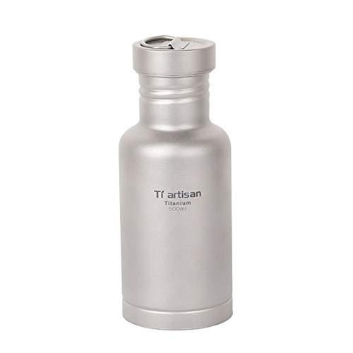 KDXBCAYKI Pure Titanium Water Fles Outdoor Camping Draagbare Ketel Houd Dranken Warm & Koud Vacuüm Geïsoleerde Water Fles Roestvrij Staal Mok