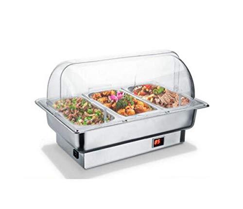 JSHFD Hot Plate calientaplatos del Buffet Servidor del Plato de frotamiento Equipo portátil Calentamiento eléctrico...