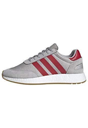adidas Originals Men's I-5923 Shoe, Grey/Scarlet/Gum, 9 M US