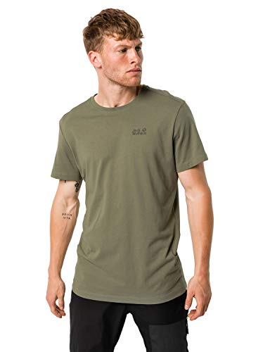 Jack Wolfskin Essential T-Shirt Homme T-Shirt Homme Khaki FR : XL (Taille Fabricant : XL)