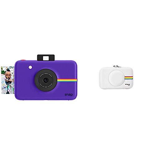 Polaroid Snap - Cámara Digital instantánea, tecnología de impresión Zink Zero Ink, 10 MP, Micro SD + PLSNAPEVAW - Funda (Funda, Polaroid, Polaroid Snap Instant Print Digital Camera, Blanco)