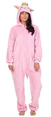 CityComfort Pijamas Enteros de Animales Mujer de Una Pieza Suaves, Disfraz Halloween Mujer Unicornio Gato Búho, Pijama Mono Entero Manga Larga Capucha, Regalos para Chicas (M, Gato de la Reina)