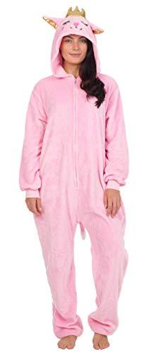 CityComfort Pyjama Onesie Für Damen Lang Tier Cosplay Kostüme aus Fleece Damen Einhorn Schlafanzug Jumpsuit Overalls Onesie Kostüm Fasching Karneval Kostüm Für Erwachsene (S, Kitty Katze)