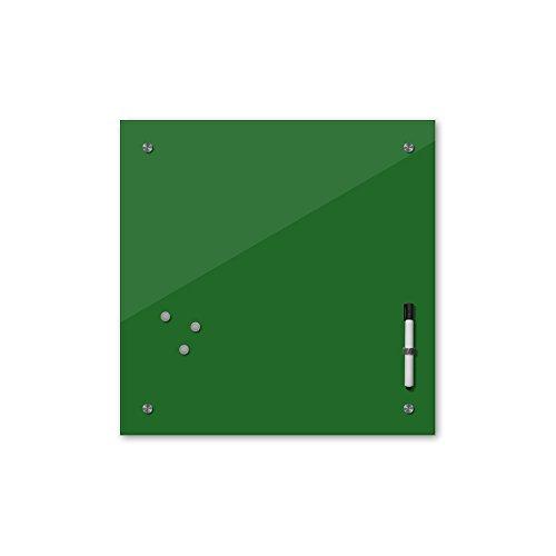 Bilderdepot24 Memoboard 40 x 40 cm, 24 Farben - grün - Glas - Glasboard - Glastafel - Magnetwand - Pinnwand - Mehrzwecktafel Farbton - Grundfarbe - einfarbige Schreibtafel