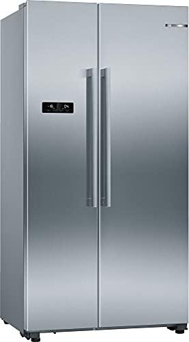 Bosch KAN93VIFP Serie 4 Amerikanischer Side-by-Side / F / 178,7 x 90,8 cm / 413 kWh/Jahr / Inox-antifingerprint / 372 L Kühlteil / 208 L Gefrierteil / NoFrost / IceTwister