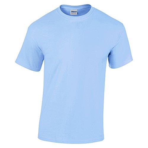 Men's Light Blue Gildan Cotton T-shirt. Ideal for Crockett Costume.