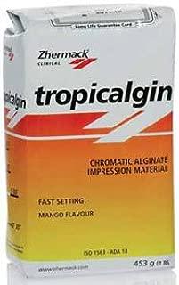 Tropicalgin, C302241, Thixotropic Dust Free Color Changing Alginate, Fast Set, Mango flavor, 1 lb. Bag, 1 Storage Container and 1 Measuring Set.