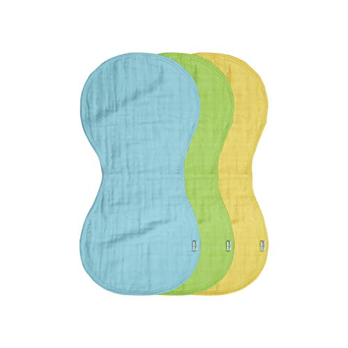 green sprouts Muslin Burp Cloths made from Organic Cotton | 4 absorbent layers protect from sniffles, drips & drools | 100% organic cotton muslin, Super soft & softer with every wash, Machine washable