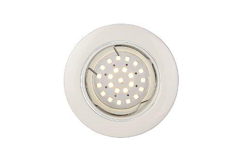 Lucide 11001/04/31 Éclairage de Plafond Encastre Rond LED GU10 Dimmable