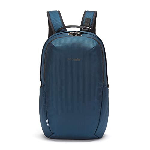 PacSafe Vibe 25L Travel Anti Theft Pack-Fits 13 inch Laptop, ECONYL Ocean, 25 Liter