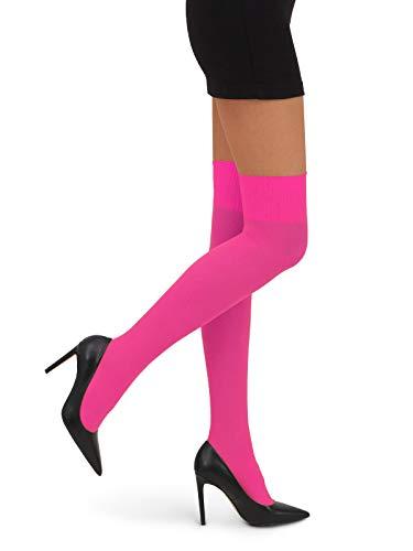 Di Ficchiano Damen Kniestrümpfe CAMILLE Overknee 60 DEN, pink, One Size (S/M/L)