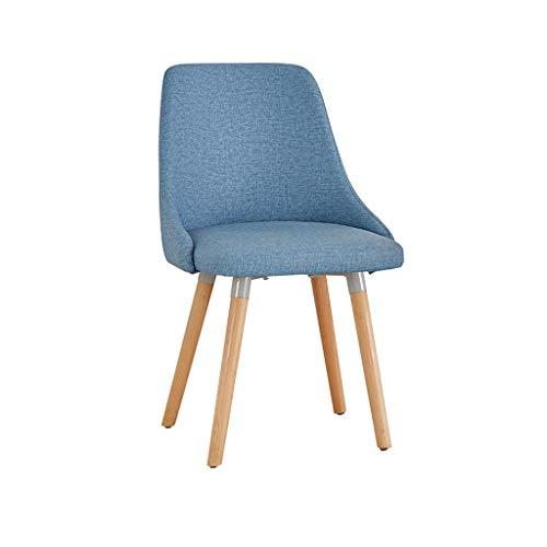 Dining Chair Hermosa silla simple escritorio de estudiante y silla de maquillaje taburete de computadora para el hogar fuerte (color: azul)