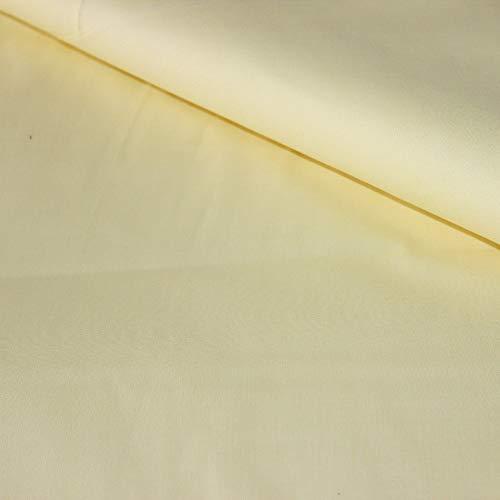 Pingianer Tela de algodón 100 % de un solo color para niños, por metros, artesanía, costura (amarillo claro, 50 x 160 cm (13,98/m))