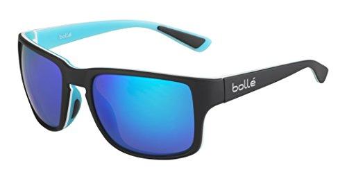 bollé Erwachsene Slate Sonnenbrille, Black Blue Matte, Medium