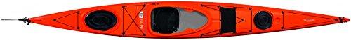 Tahe Marine Tourenkajak Kajak Freizeitkajak Seekajak Fit 158 PE mit Ruder und Skeg, Farbe:Blau, Ausstattung:Mit Skeg/Ruder