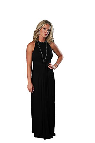 Charm Your Prince Womens Infinity Knot Sleeveless Black Cocktail Maxi Dress XL